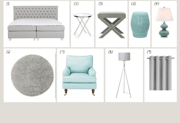 Raumgestaltung Interior Design Möbel kaufen Empfehlung Bett Sessel Teppich Leuchte