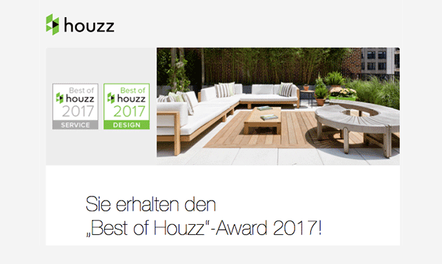 best of houzz award gewonnen