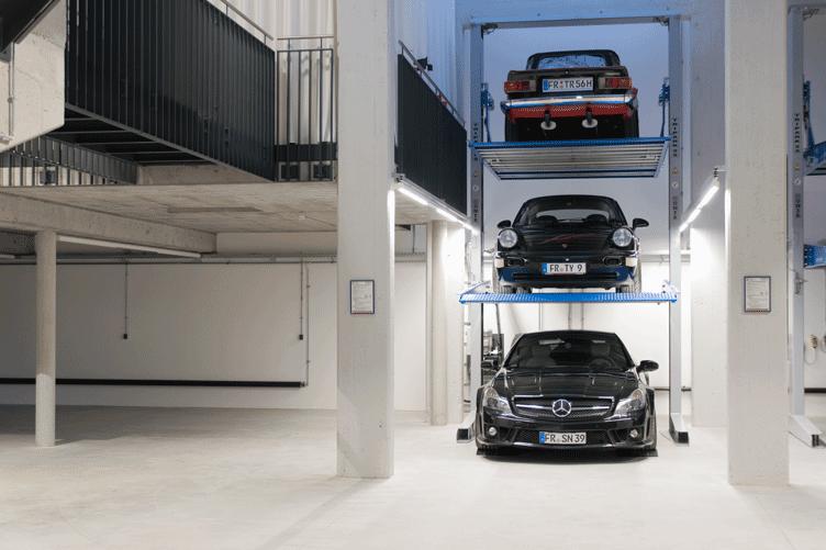 Garagen Konzept autos