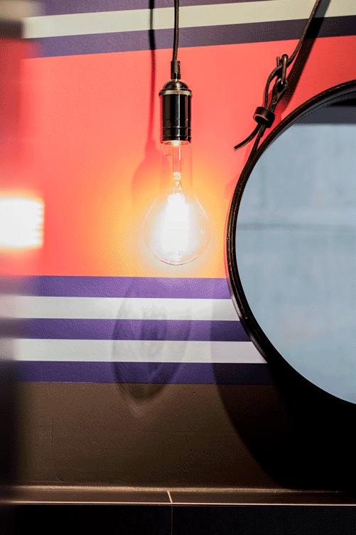 Gubispiegel und leuchten