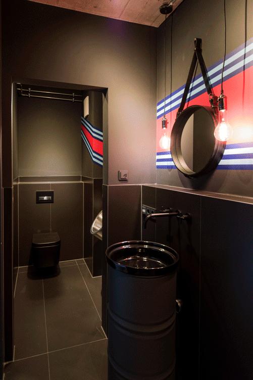 WC matt schwarz