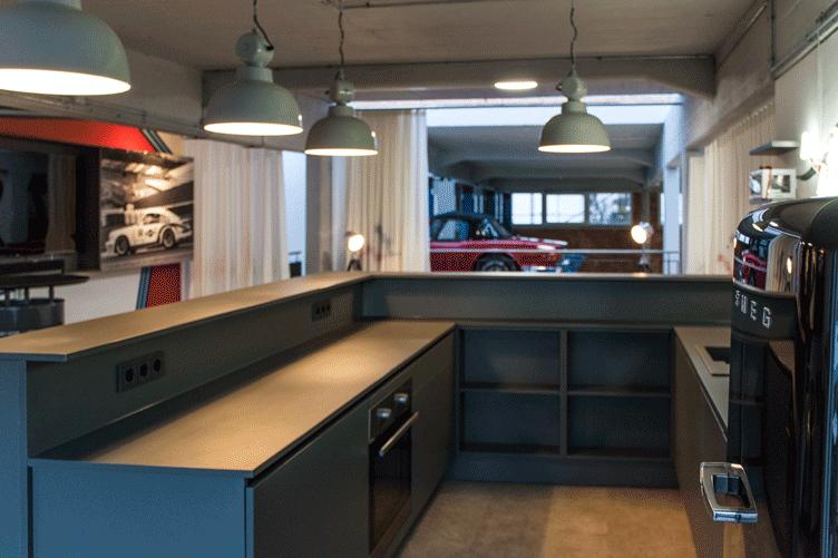 Theke Küche grau