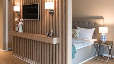 Wohnkonzepte Nachher Ferienwohnung Schlafzimmer raumteiler