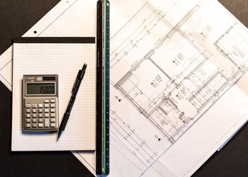 Wohnkonzepte grundrissplanung kalkulation Plan taschenrechner