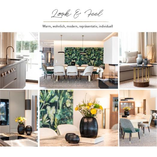 Look and Feel warm wohnlich modern repräsentativ individuell Einrichtungskonzept