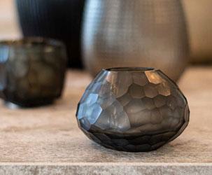 Guaxs Vase klein grau handgemacht Unikat